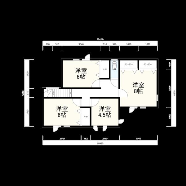 二階平面図